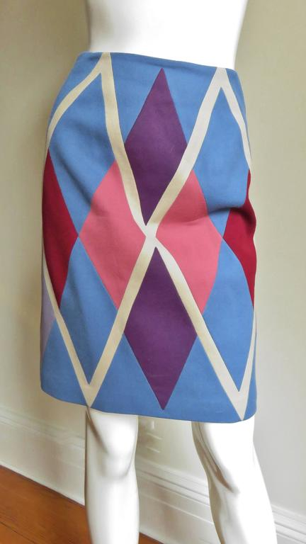 1980s Christian Francis Roth Pieced Color Block Skirt 2