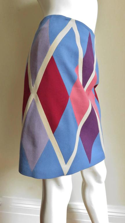 1980s Christian Francis Roth Pieced Color Block Skirt 5