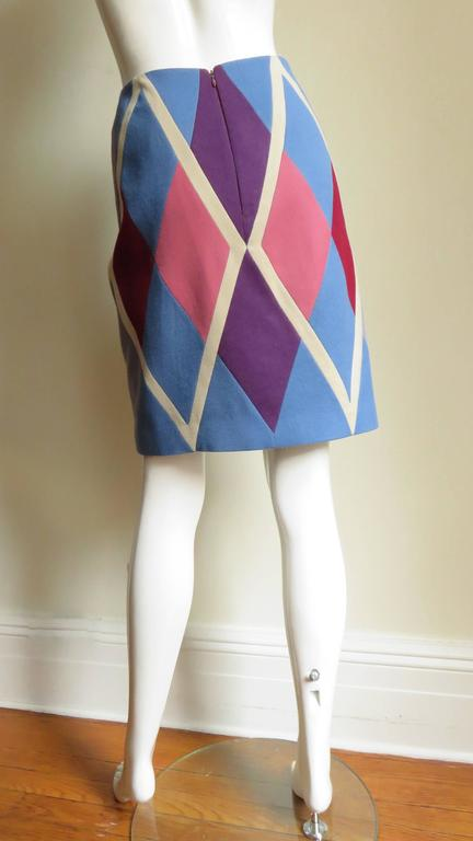 1980s Christian Francis Roth Pieced Color Block Skirt 7