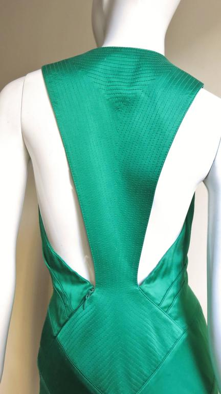 1990s Gianni Versace Silk Glamour Gown For Sale 1