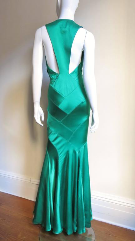 1990s Gianni Versace Silk Glamour Gown For Sale 4