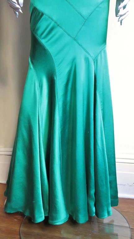 1990s Gianni Versace Silk Glamour Gown For Sale 3