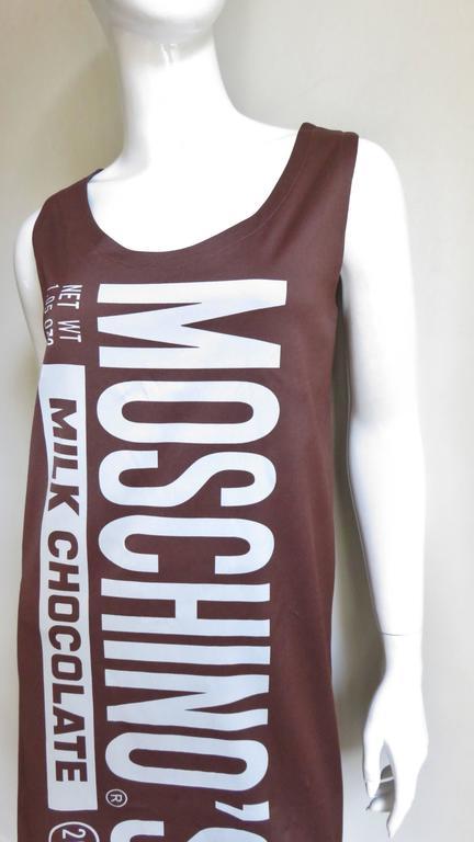 Fabulous Jeremy Scott Moschino Chocolate Bar Dress 3