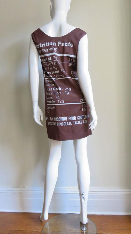 Fabulous Jeremy Scott Moschino Chocolate Bar Dress 8