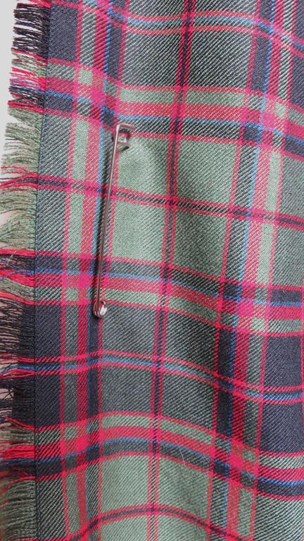Vintage Tartan Kilt Maxi Skirt 4
