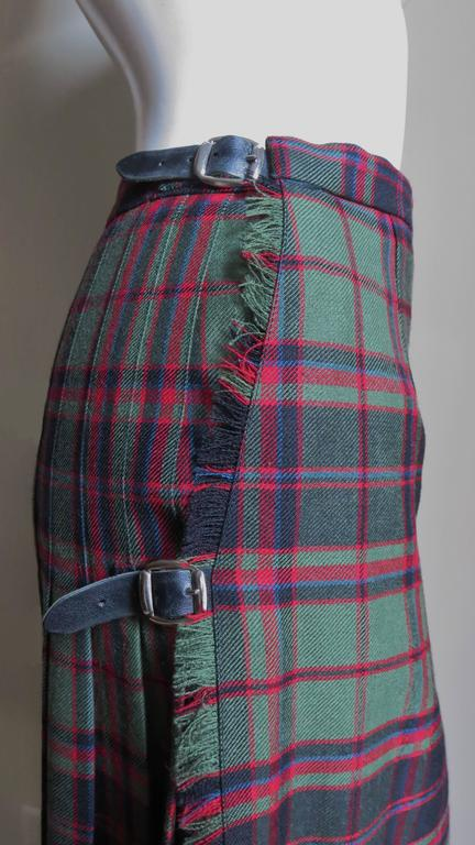 1970s Tartan Kilt Maxi Skirt 3