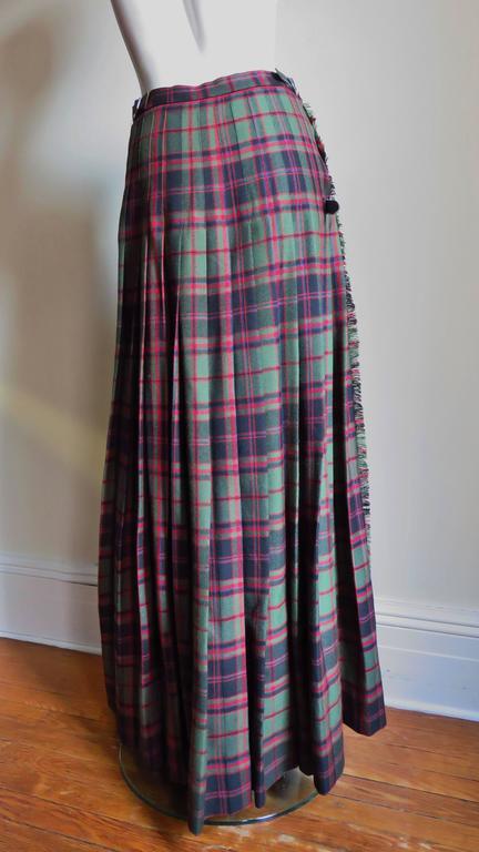 1970s Tartan Kilt Maxi Skirt 7