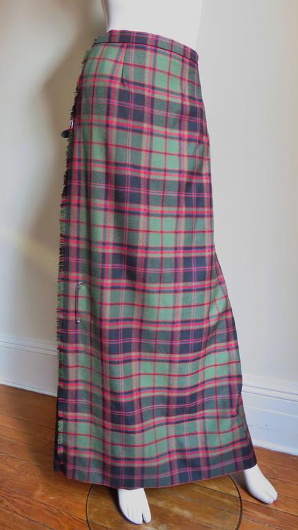 1970s Tartan Kilt Maxi Skirt 5