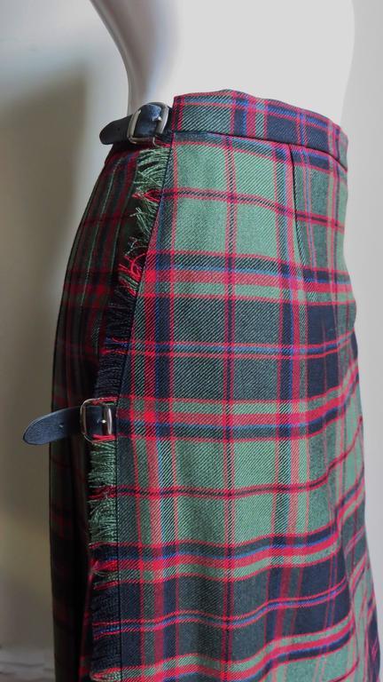 Vintage Tartan Kilt Maxi Skirt 2