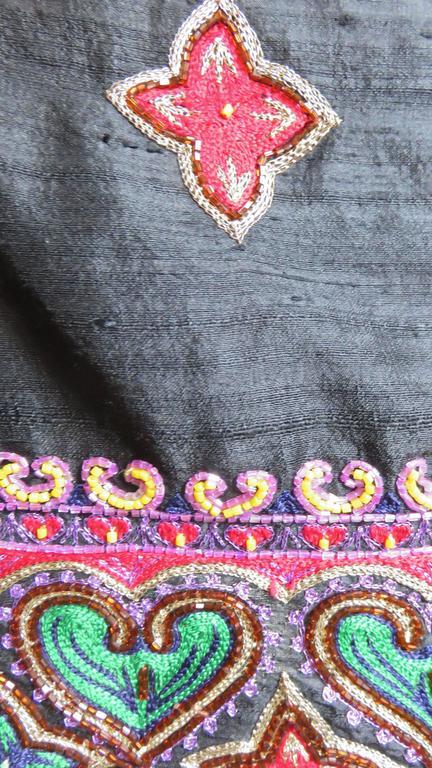 Todd Odham Beaded Embroidered Silk Skirt 3
