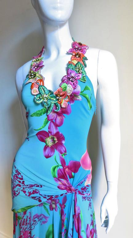 Gorgeous Versace Silk Dress With Elaborate Emboidery 2