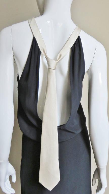 1990s Moschino Couture Necktie Back Dress 2
