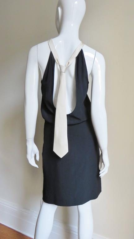 1990s Moschino Couture Necktie Back Dress 3