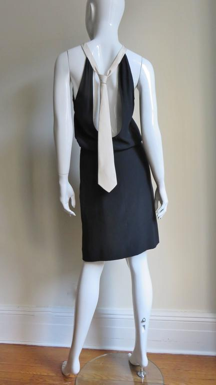 1990s Moschino Couture Necktie Back Dress 4