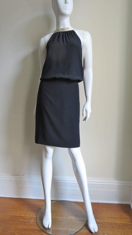 1990s Moschino Couture Necktie Back Dress 9