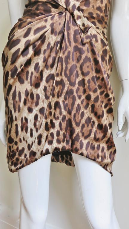 Women's Dolce & Gabbana Silk Leopard Corset Bustier Dress For Sale