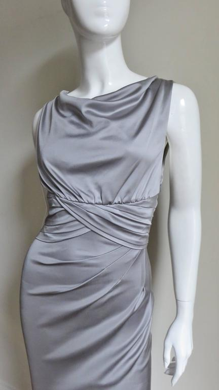 Valentino Silk Jersey Bodycon Dress In Good Condition For Sale In Water Mill, NY