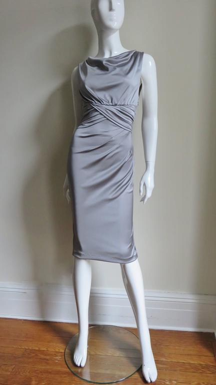 Valentino Silk Jersey Bodycon Dress For Sale 4
