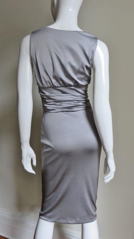 Valentino Silk Jersey Bodycon Dress For Sale 5