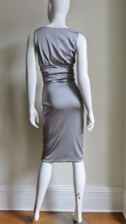 Valentino Silk Jersey Bodycon Dress For Sale 8