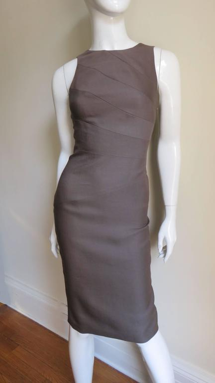 Women's Versace New Spiral Seamed Dress For Sale