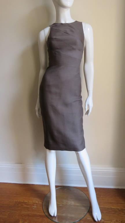 Versace New Spiral Seamed Dress For Sale 1
