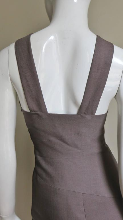 Versace New Spiral Seamed Dress For Sale 3