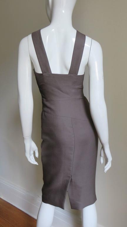 Versace New Vintage Spiral Seamed Dress 7