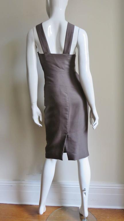 Versace New Vintage Spiral Seamed Dress 9