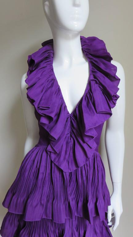 John Galliano for Christian Dior Plunge Silk Halter Dress 2