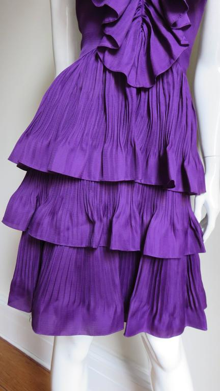 John Galliano for Christian Dior Plunge Silk Halter Dress 4