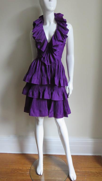John Galliano for Christian Dior Plunge Silk Halter Dress 6