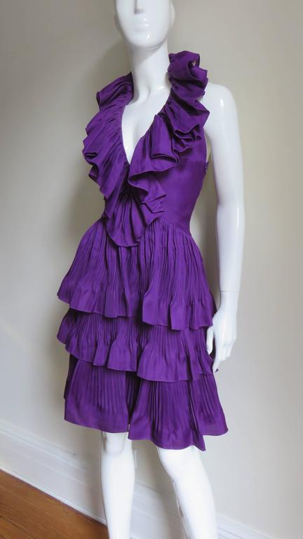 John Galliano for Christian Dior Plunge Silk Halter Dress 5
