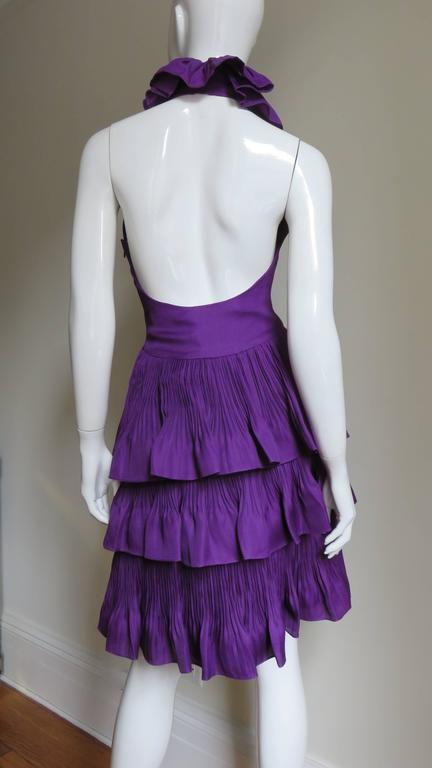 John Galliano for Christian Dior Plunge Silk Halter Dress 7