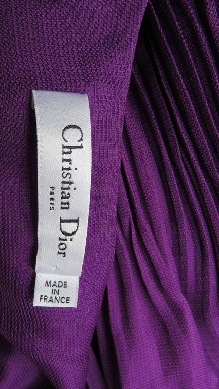 John Galliano for Christian Dior Plunge Silk Halter Dress 10