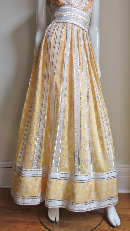 Vintage 1960s British Hong Kong Silk Plunge Gown 3