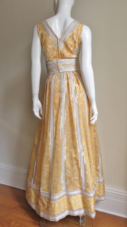 Vintage 1960s British Hong Kong Silk Plunge Gown 7