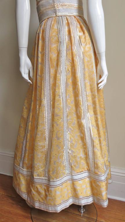 Vintage 1960s British Hong Kong Silk Plunge Gown 6