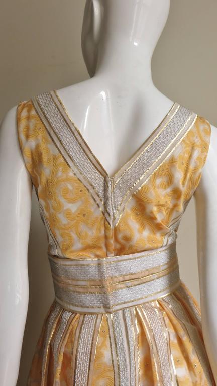 Vintage 1960s British Hong Kong Silk Plunge Gown 5