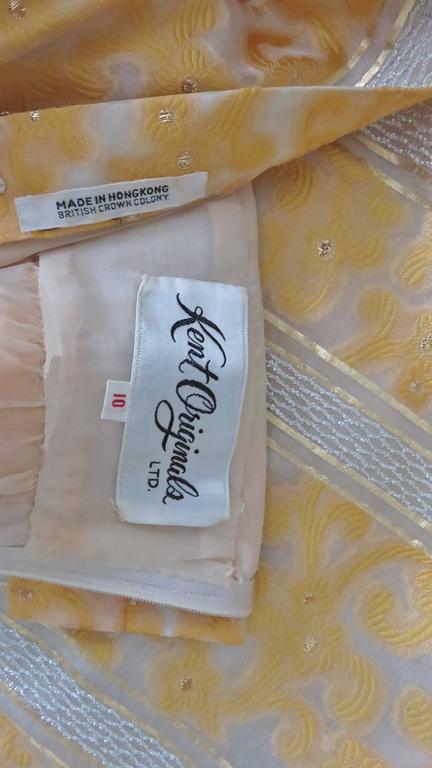 Vintage 1960s British Hong Kong Silk Plunge Gown 8