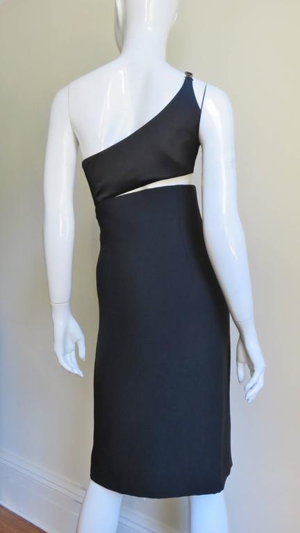 Gianni Versace Vintage One Shoulder Dress w Cut-out 7
