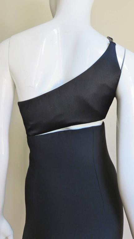 Gianni Versace Vintage One Shoulder Dress w Cut-out 8