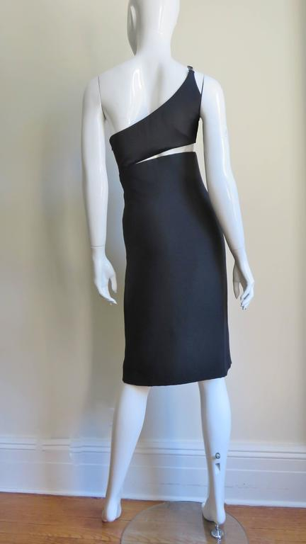 Gianni Versace Vintage One Shoulder Dress w Cut-out 9