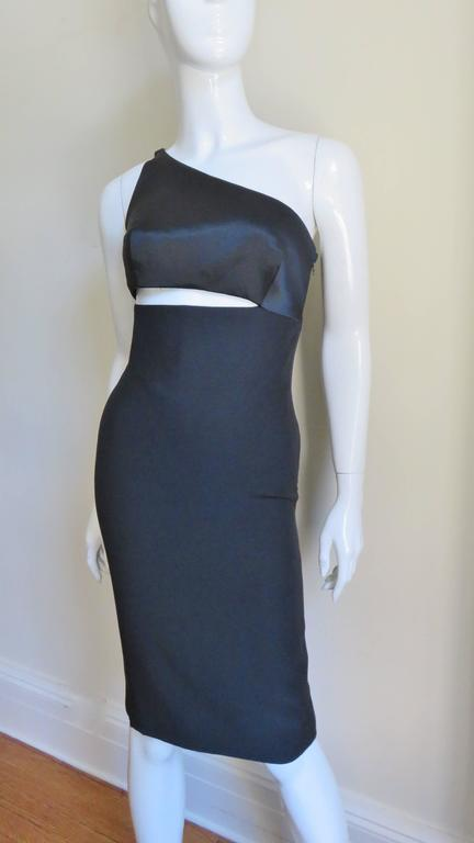 Gianni Versace Vintage One Shoulder Dress w Cut-out 2