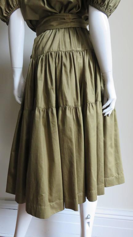 1960s Yves St Laurent Peasant Skirt & Top For Sale 3