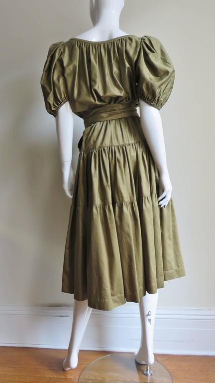 1960s Yves St Laurent Peasant Skirt & Top For Sale 4