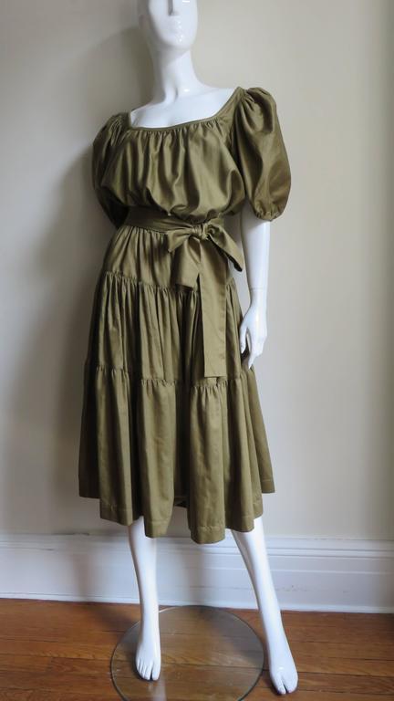 1960s Yves St Laurent Peasant Skirt & Top 5