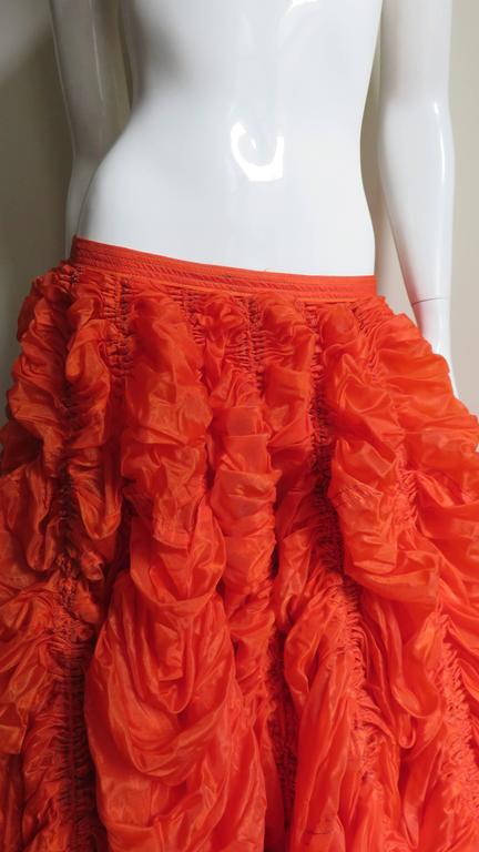 Red Rare Iconic Museum Exhibited 1970's Norma Kamaili Parachute Skirt For Sale