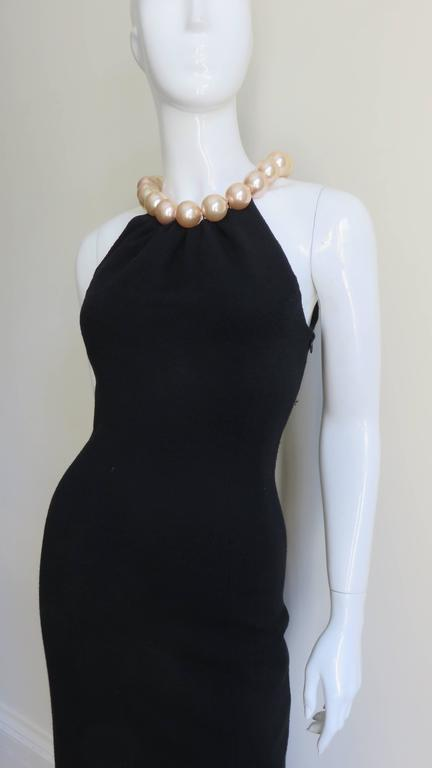 Moschino Pearl Collar Dress In Good Condition For Sale In New York, NY