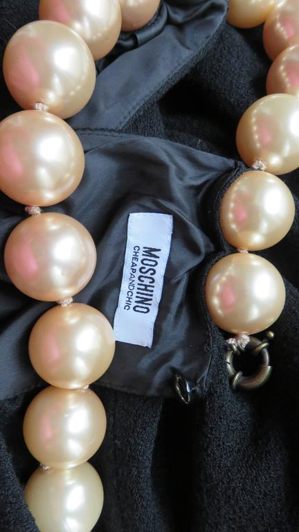 Moschino Pearl Collar Dress For Sale 10